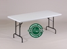 "R-Series Blow-Molded 29"" Fixed Height Folding Table"