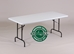 "R-Series Blow-Molded 29"" Fixed Height Folding Table -"