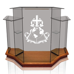 Winged Pulpit- Clear  Glass