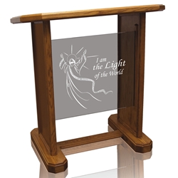 Neos - Panel Pulpit - Clear Glass
