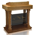 Colonial Panel Pulpit - Tinted Glass