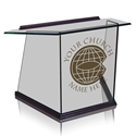 Table Top Lectern - Clear Glass