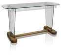 "Communion Table 40"" - Clear Glass"