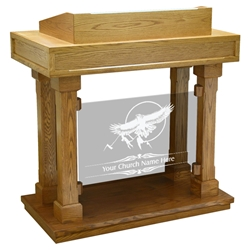 Colonial Panel Pulpit - Clear Glass